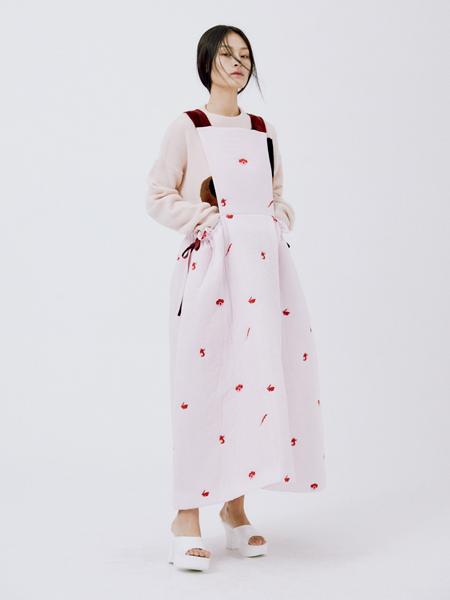 Minjukim国际品牌品牌2020秋冬雪纺围裙