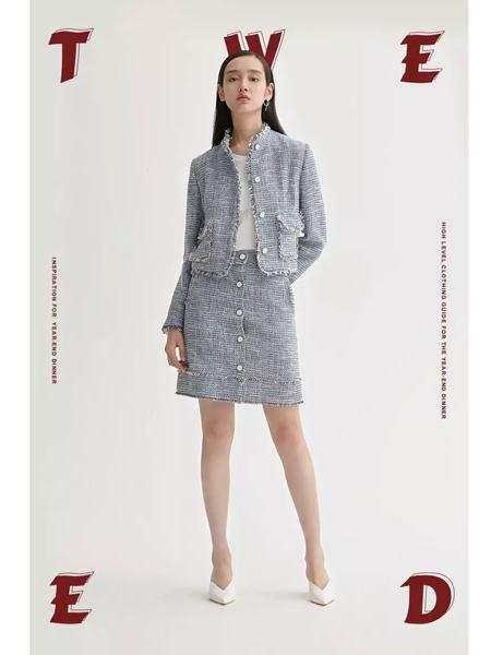 曼娅奴女装品牌2020春夏套装小香风裙