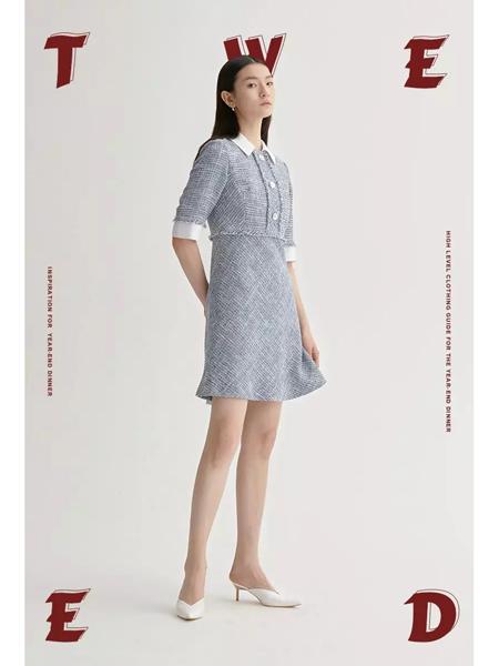 曼娅奴女装品牌2020春夏淑女风连衣裙