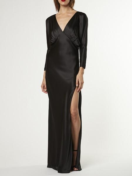 Michelle Mason国际品牌品牌2020春夏深v丝绸礼服