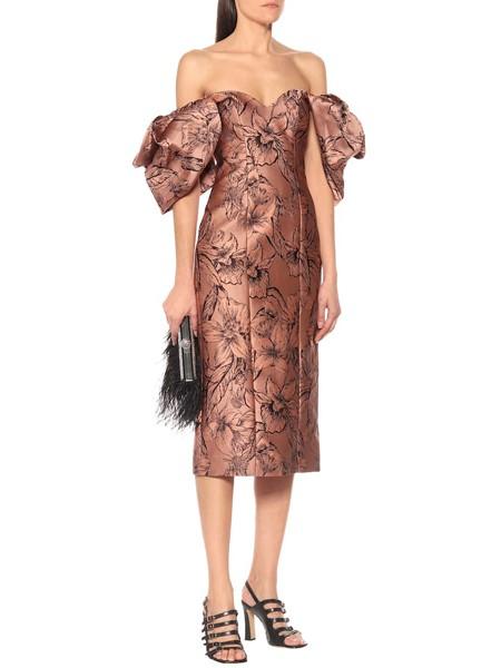 Johanna Ortiz国际品牌品牌2020春夏露肩性感连衣裙