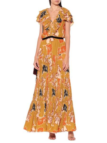 Johanna Ortiz国际品牌品牌2020春夏雪纺花色连衣裙