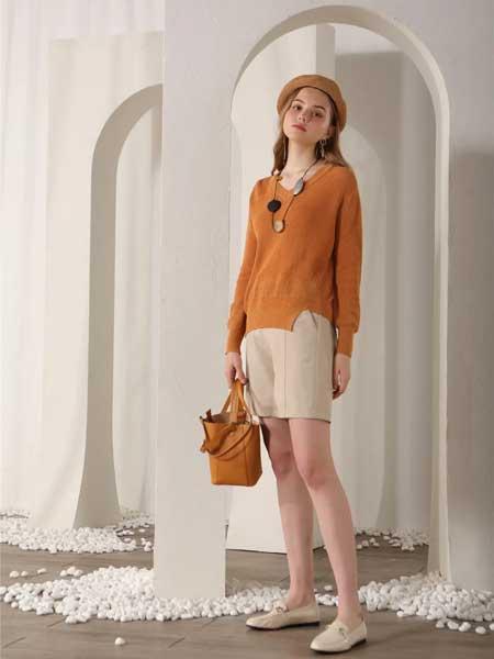 艾凸苏希女装品牌2020春夏新款纯色气质针织上衣