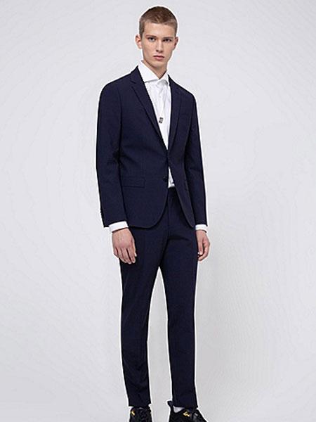 HUGO国际品牌2020春夏男士纸感弹力棉修身长裤
