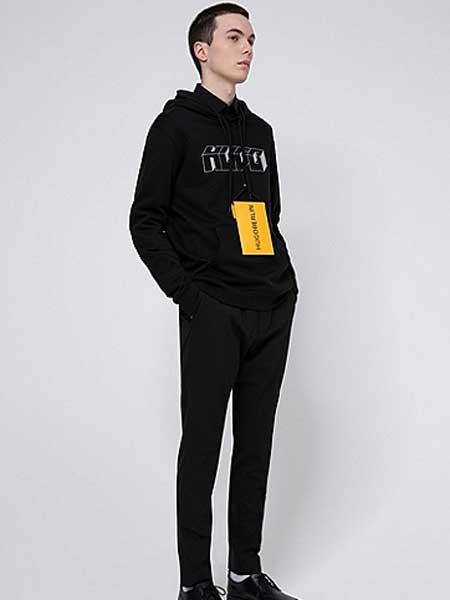HUGO国际品牌2020春夏男士小熊图案格纹棉宽松衬衫