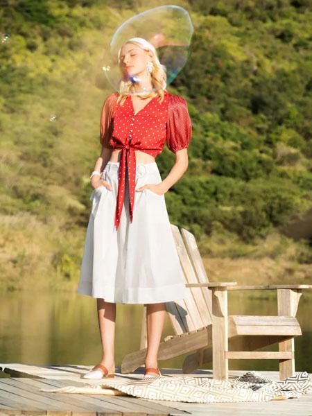 索玛女装品牌2020春夏新款纯色气质上衣