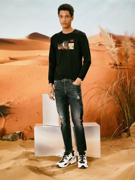 1943S男装品牌2020春夏新款纯色气质印字图案长袖上衣