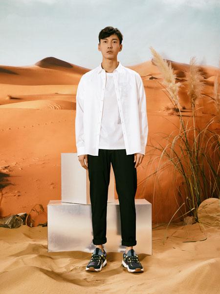 1943S男装品牌2020春夏新款纯色简洁气质衬衫