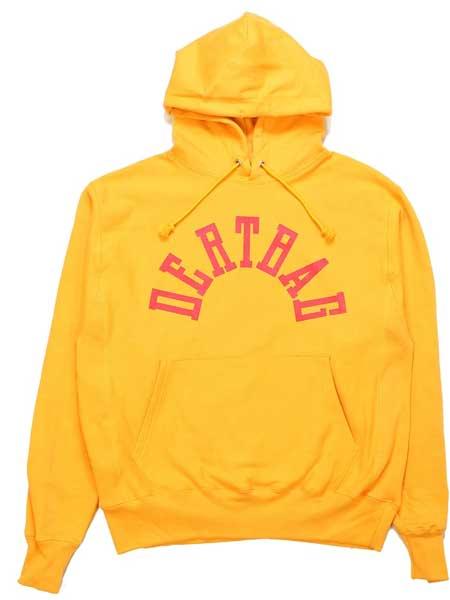 Dertbag国际品牌品牌2020春夏DERTBAG黄色反向编织连帽衫