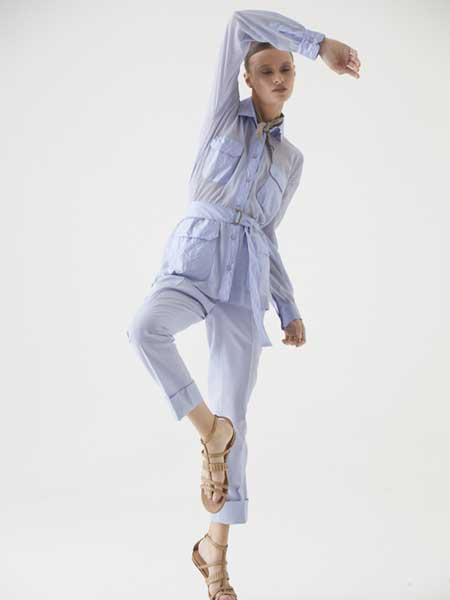 Cividini国际品牌品牌2020春夏纯色简洁透纱夹克