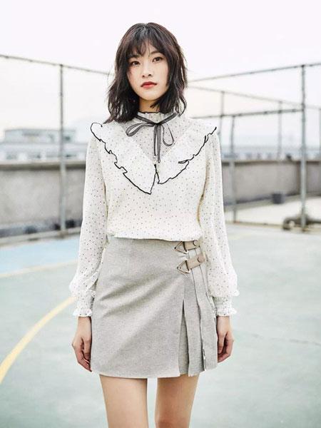 MIYU女装品牌2020春夏波点雪连衣裙