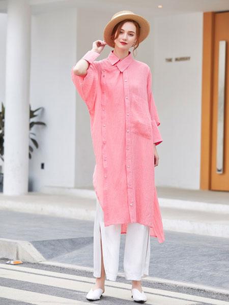 摩卡女装品牌2020春夏新款超长款袖过膝盖