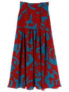 UN3D国际品牌品牌2020春夏新款碎花半身长裙