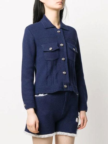 Barrie国际品牌品牌2020春夏新款纽扣羊绒开衫