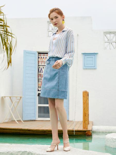 金蝶茜妮女装品牌2020春夏新款气质裙子套装