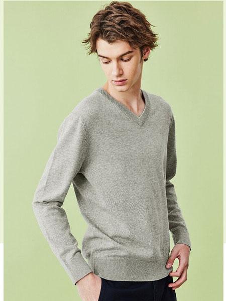 Giordano佐丹奴男装品牌2020春夏新款男装精梳纯棉红色毛衣
