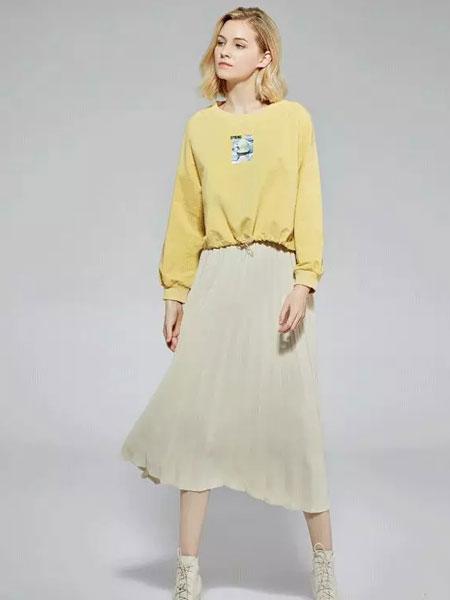 蓝珣Helen Moda女装品牌2020春夏新款百褶半身裙