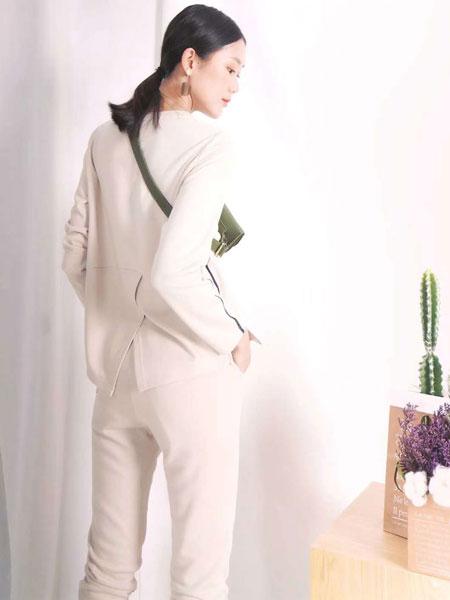 底色女装品牌2020春夏新款纯色气质羊绒开衫