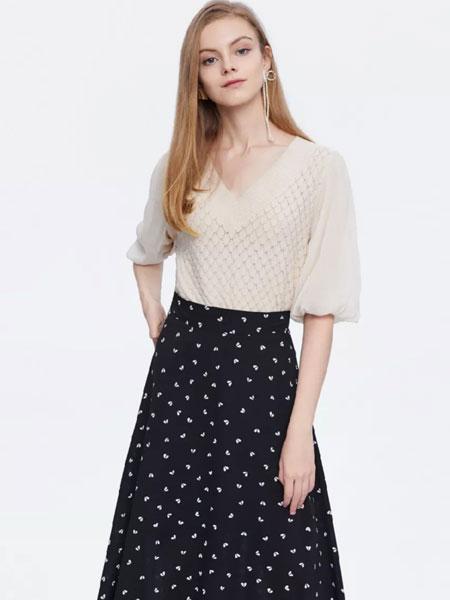 Eichitoo爱居兔女装品牌2020春夏新款纯色长袖针织衫