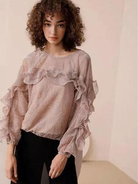 法尔莎女装品牌2020春夏新款纯色气质上衣