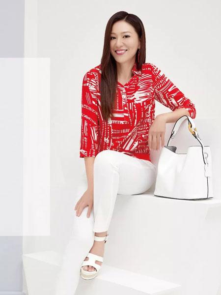 吉蒂女装品牌2020春夏新款纯色印字长袖上衣
