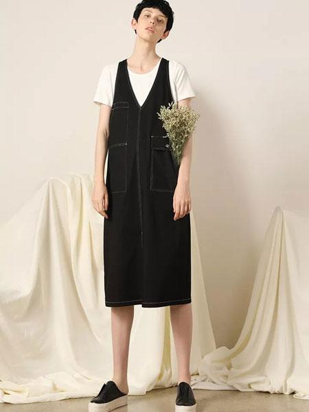 柯妮丝��女装品牌2020春夏新款纯色气质牛仔裙