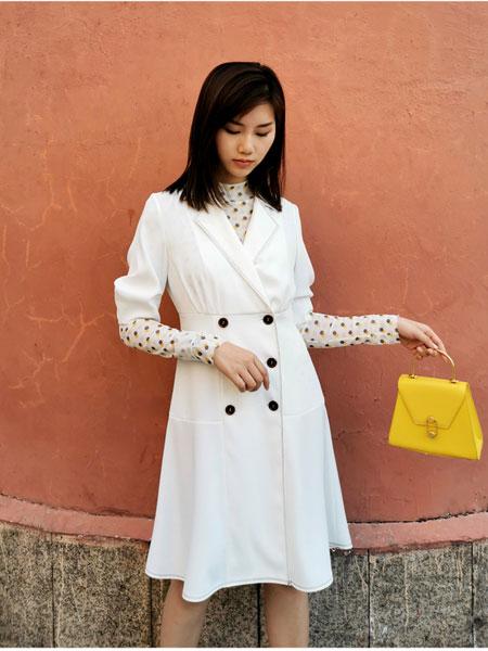 Rhema女装品牌2020春夏新款 通勤OL商务时装 高腰显瘦复古连衣裙