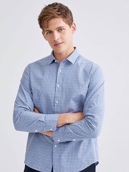 九牧王男装正装长袖衬衫2020春季新款纯棉衬衣