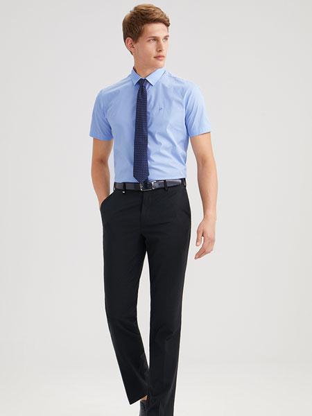 九牧王男裤牛仔裤男2020春季男士深色轻弹直筒长裤