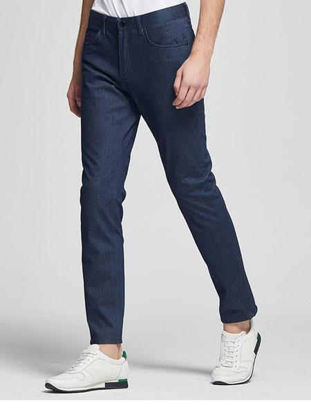 九牧王男裤牛仔裤2020春季新款休闲直筒宽松裤子