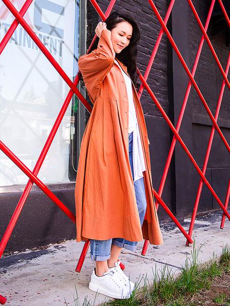 艾璞琪女装新款纯色长袖气质大衣