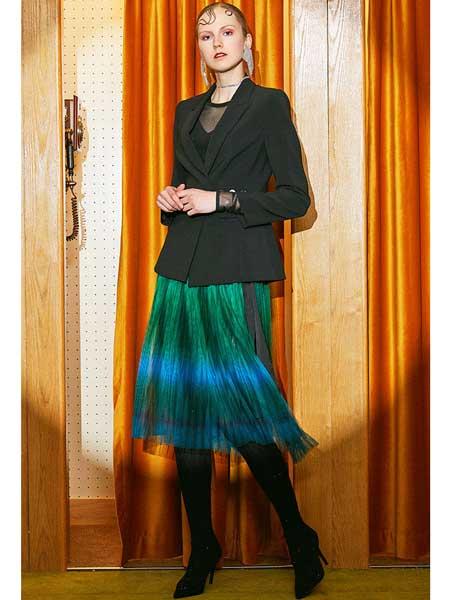 欧点女装品牌2020春夏新款半身纱裙
