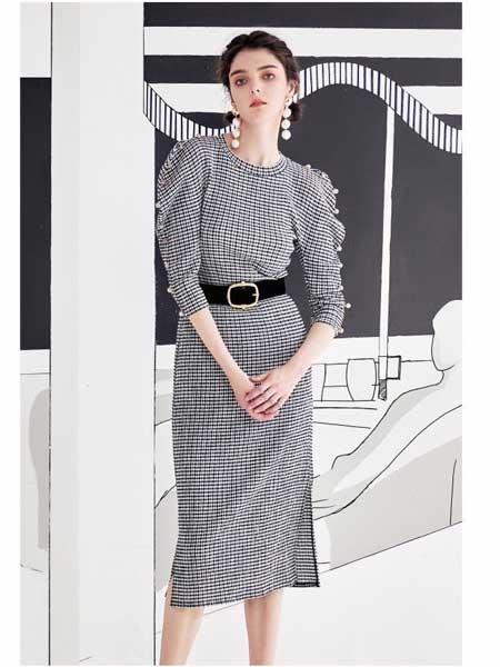 欧点女装品牌2020春夏新款复古时尚长袖