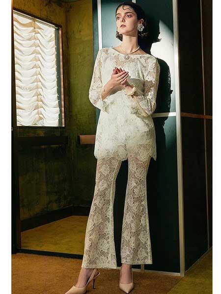 欧点女装品牌2020春夏新款欧美蕾丝长裤