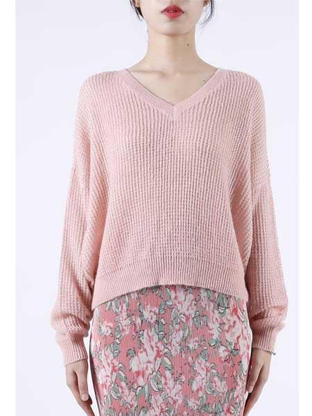 欧点女装品牌2020春夏新款纯色羊绒毛衫