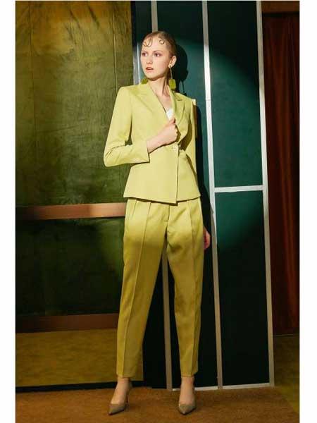 欧点女装品牌2020春夏新款纯色休闲西装外套