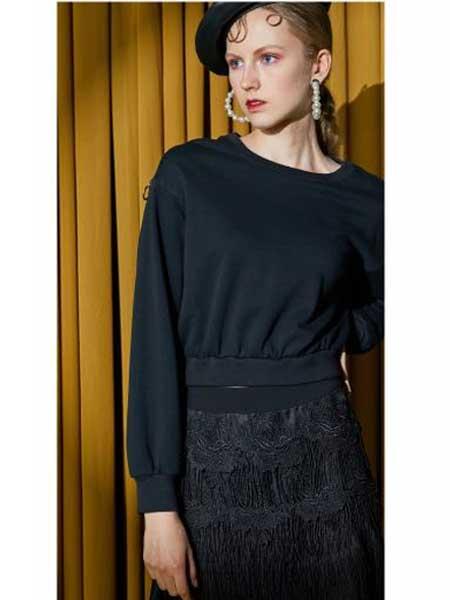 欧点女装品牌2020春夏新款纯色卫衣