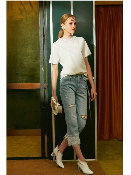 欧点女装品牌2020春夏新款破洞牛仔裤