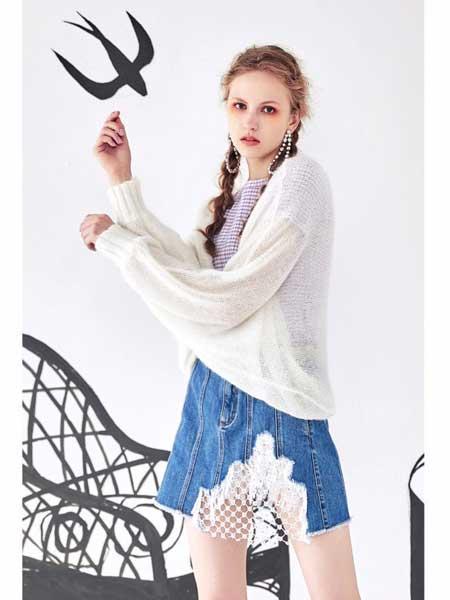 欧点女装品牌2020春夏新款纯白羊绒毛衬衫