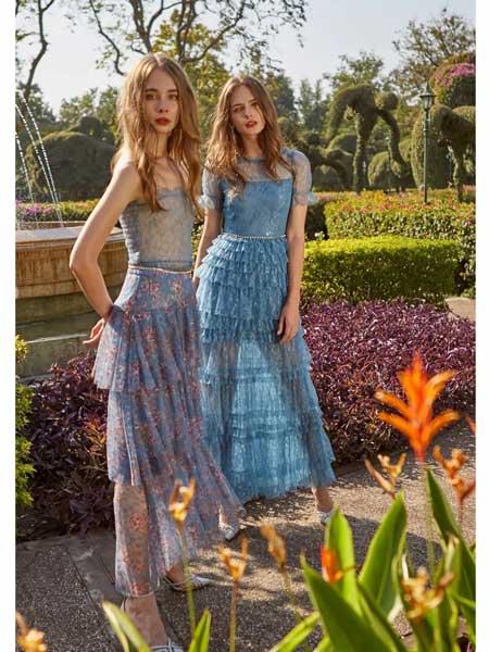 欧点女装品牌2020春夏新款显气质修身连衣裙