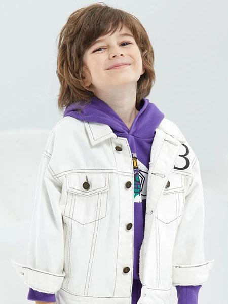 瑞比克童裝品牌2020春夏新款純色氣質紐扣風衣