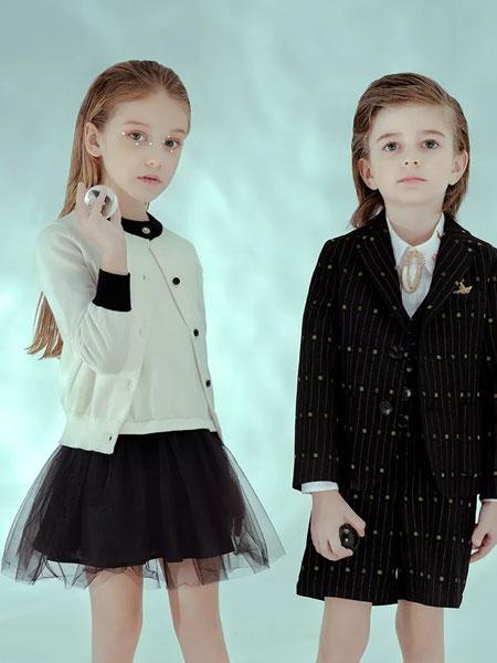 瑞比克童裝品牌2020春夏新款個性小童禮服套裝