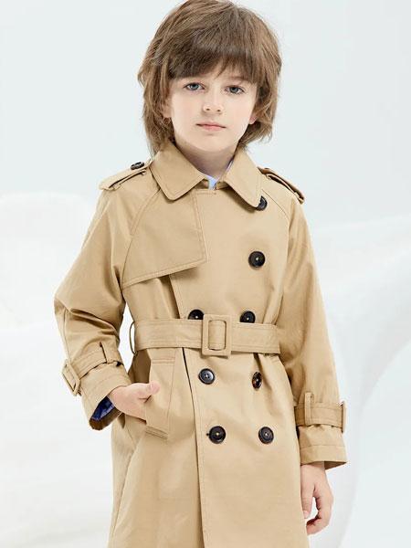 瑞比克童装品牌2020春夏新款纯色纽扣翻领夹克