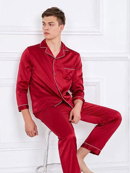 雪仙丽内衣品牌2020春夏新款纯色真丝睡衣