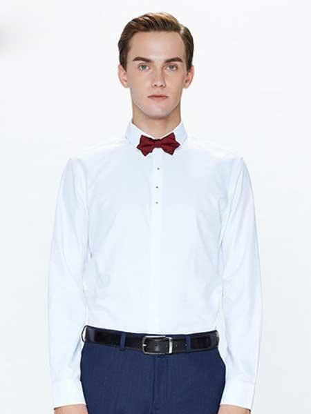 乔顿男装品牌2020春夏新款白色修身衬衫
