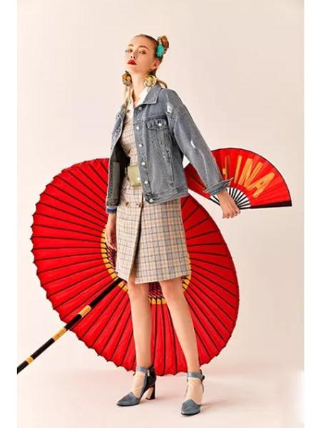 魔美名作女装品牌2020春夏新款潮流牛仔外套