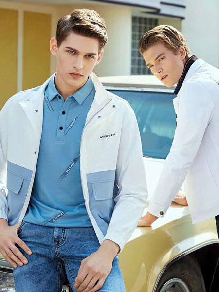 迪威玛尼男装品牌2020春夏新款拼接色翻领气质长袖外套
