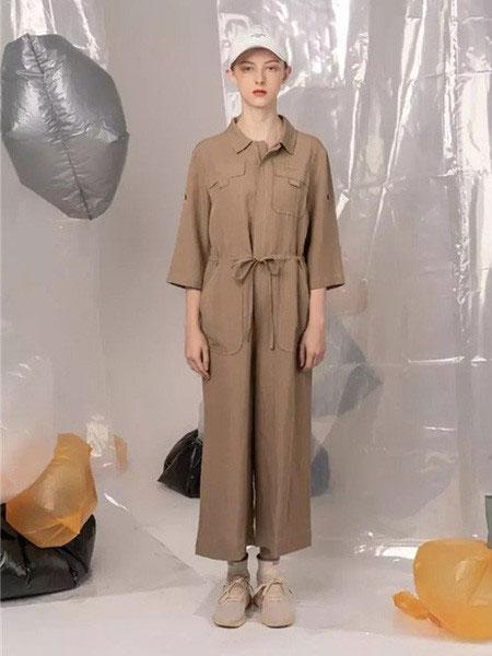 MARREUMM女裝品牌2020春夏新款純色簡潔翻領連體衣