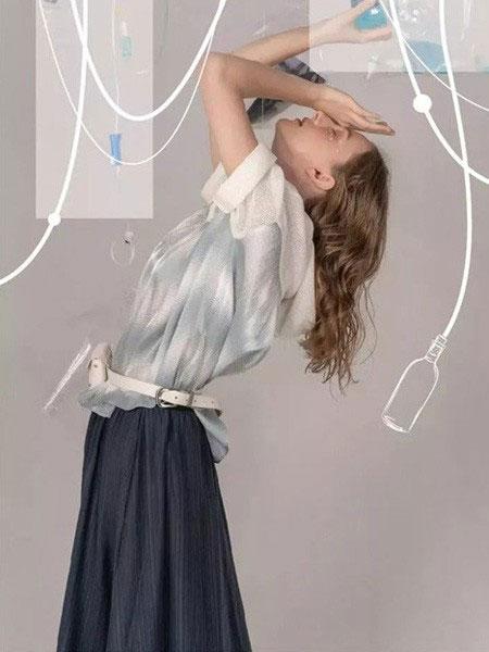 MARREUMM女裝品牌2020春夏新款純色亮面縷空氣質上衣