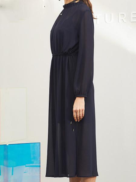 minette春季新品复古裙过膝气质两件套装连衣